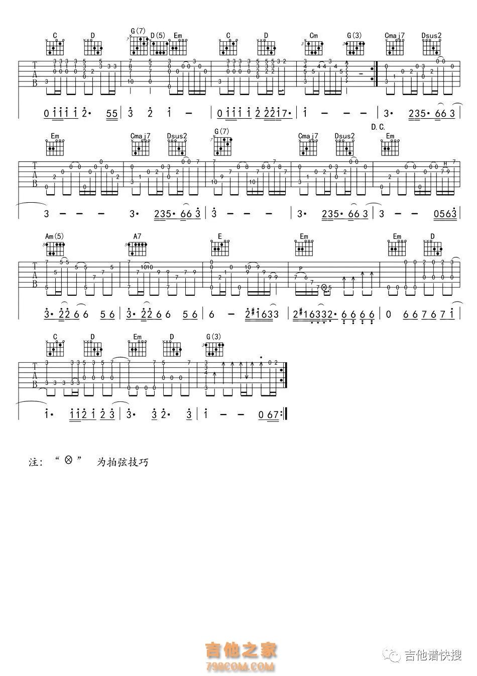 海阔天空文本吉他谱_《海阔天空》海阔天空指弹吉他谱 - 指弹吉他谱 - 吉他之家